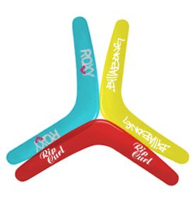 Bedrukte boomerangs