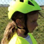 fietshelm voor kinderen in fluo geel