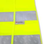 Fluo geel hesje met grijze retro-actieve banden van 3M Scotchlite