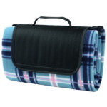 blauw geruit picknickkleed